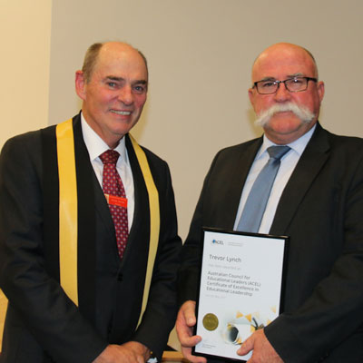 Mr Trevor Lynch wins prestigious ACEL Certificate of Excellence